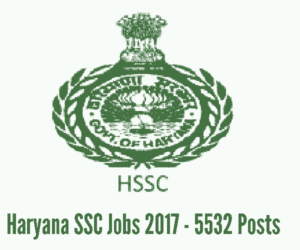 Haryana SSC Recruitment for Police Constable Jobs - 5532 Posts (Male - 4500 Posts, Female - 1032 Posts)