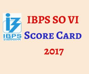 IBPS SO VI Score Card 2017