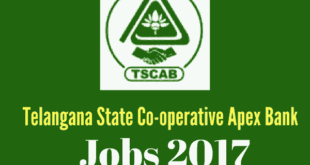 TSCAB Recruitment 2017 Notification Details - 96 Assistant/Managers