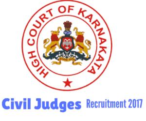Karnataka High Court Recruitment 2017 for Civil Judges - 167 Posts