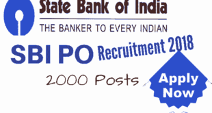 SBI PO Recruitment 2018 Notification