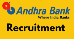 Andhra Bank part time Sweeper Recruitment