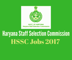 HSSC Recruitment 2017 - 1139 Vacancies - Haryana Stenographer Jobs 2017