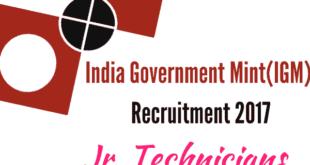 IGM Recruitment 2017