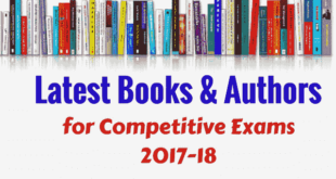 Important Books and Authors 2017 - 2018 PDF for Competitive Exams