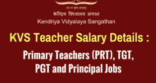 KVS Teacher Salary - PRT, TGT, PGT and Principal Jobs