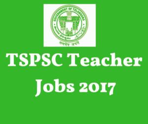 TSPSC PGT Notification 2017