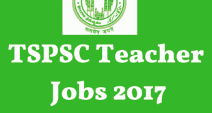 TSPSC PGT Notification 2017