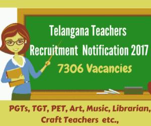 Telangana Teacher jobs 2017