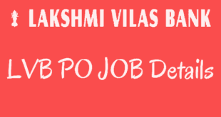 Lakshmi Vilas Bank PO Jobs 2017