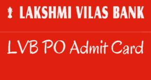 LVB PO Admit Card 2017