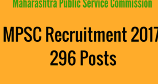 MPSC - Mahasrashtra Public Service Commission Recruitment 2017 for Tax Assistants