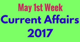 Important Current Affairs May 2017