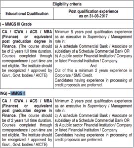 SBI Management Executive Eligibility