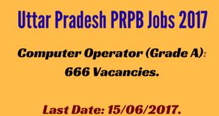 UP PRPB Computer Operator Jobs