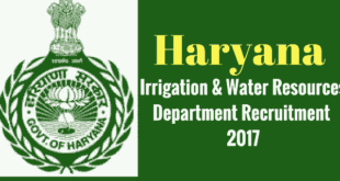 Haryana Irrigation Department Panchkula Recruitment 2017