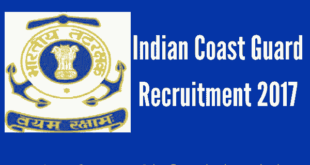 Indian Coast Guard Recruitment 2017 - Assistant Commandants - Group A Gazetted Officers