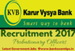 Karur Vysya Bank Recruitment 2017 Officers
