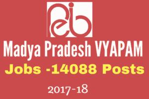 Madhya Pradesh VYAPAM Recruitment 2017 for 14088 Vacancies