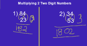 Shortcut Tricks for multiplication of 2 digit numbers