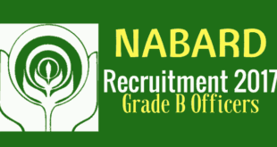 NABARD Grade B Officers Recruitment Notification 2017