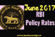 RBI Policy Rates 2017-18