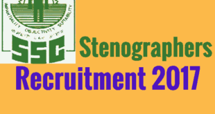 Staff Selection Commission Stenographer Recruitment Notification 2017