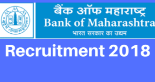 Bank of Maharashtra Recruitment 2018 for Specialist Officers