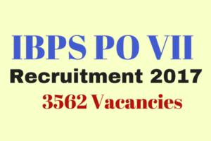 IBPS PO VII Recruitment Notification 2017
