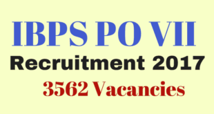 IBPS PO VII Recruitment Notification 2017