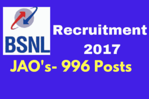 BSNL Recruitment 2017 Without Gate - Apply Online for JAOs
