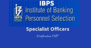 IBPS SO notification 2020 - Online Application