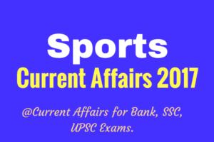 Sports Current Affairs 2017 PDF for Bank Exams