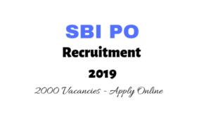 SBI PO Recruitment 2019 Online Application