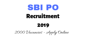 SBI PO Recruitment 2019 Online Application