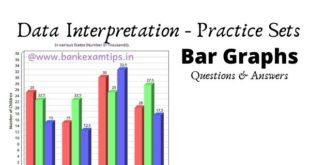 Data Interpretation Bar Graph Questions and Answers