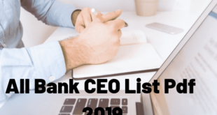 All Bank CEO List Pdf 2019 download