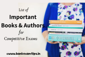 List of Important Books & Authors for Competitive Exams