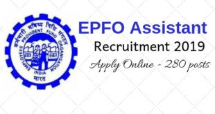 EPFO Online Application Form - EPFO jobs 2019