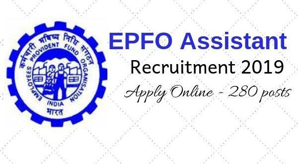 EPFO Online Application Form - EPFO jobs 2019