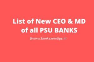 All Bank CEO List Pdf 2020