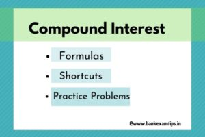 compound interest formulas and shortcuts with example problems
