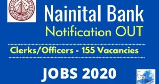 Nainital Bank 2020 Recruitment Notification