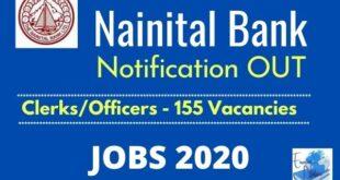 Nainital Bank 2020 Recruitment Notification