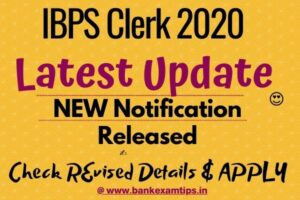 ibps clerk new notification 2020