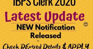 ibps clerk new notification 2020