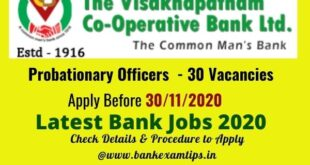Visakhapatnam Cooperative Bank Salary